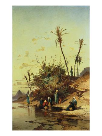 Landscape with Figures on the Nile