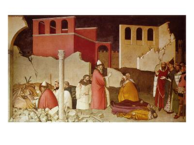 Pope St Sylvester's Miracle Scenes from the Life of Saint Sylvester: Miracle of the Dragon