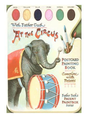 Elephant Beating Drum, Circus Painting Book