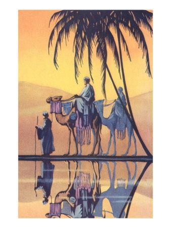 Arabs on Camels Along the Nile