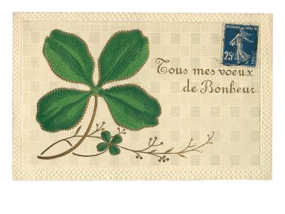 Appliqued Four-Leaf Clover