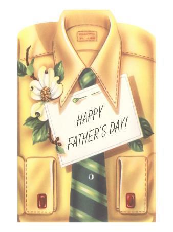 Happy Father's Day Shirt, Tie, Gardenia