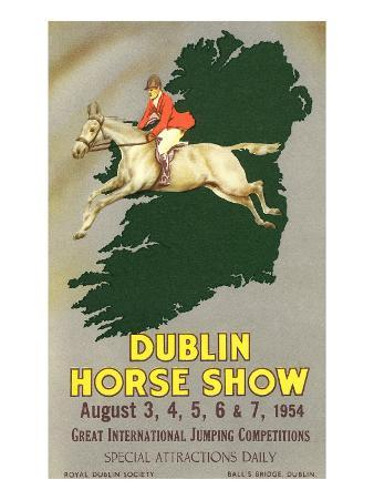 Horse Jumping over Map of Ireland