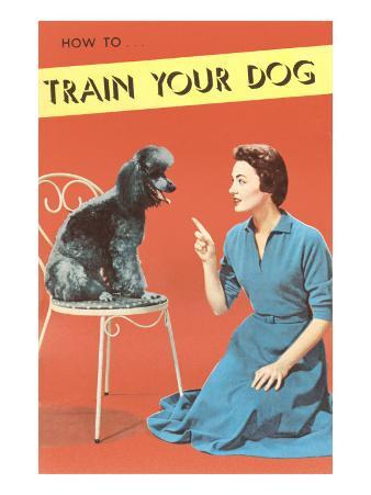 Train Your Dog, Woman with Poodle