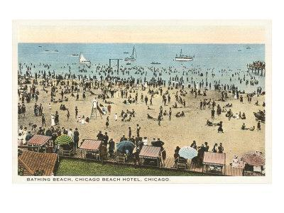 Beach Scene, Chicago, Illinois