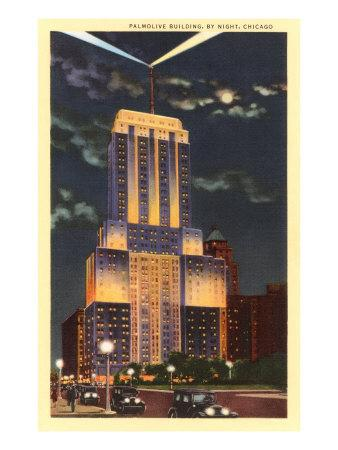 Palmolive Building at Night, Chicago, Illinois