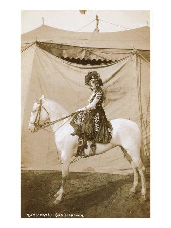Vintage Woman Circus Rider