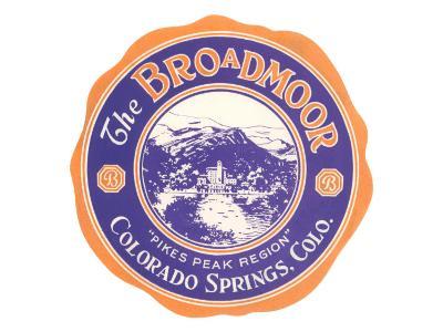 Broadmoor Label, Colorado Springs, Colorado