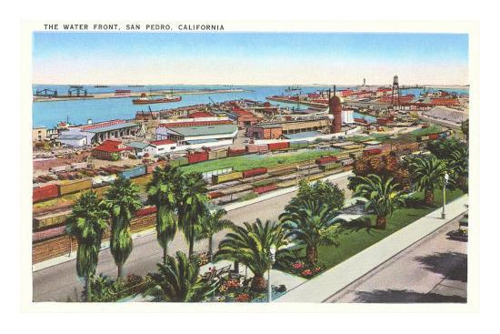 'Waterfront, San Pedro, California' Photo -