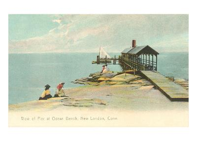 Pier at Ocean Beach, New London, Connecticut