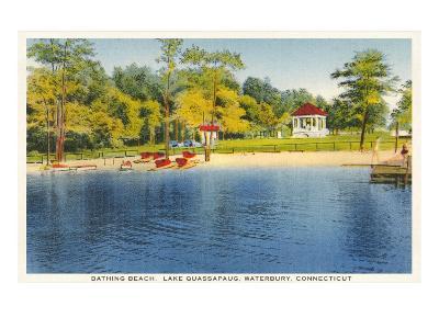 Beach, Lake Quassapaug, Waterbury, Connecticut