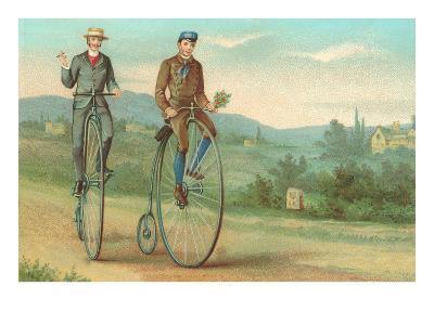 Two Men on Penny-Farthings