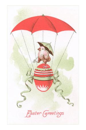 Easter Greetings, Chick in Egg Balloon