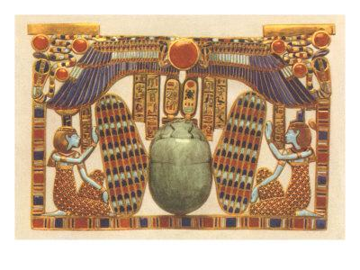 Inlaid Horus Wings, Scarab, Egypt