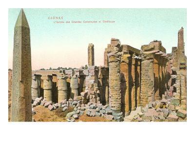 Colonnade, Obelisk, Karnak, Egypt