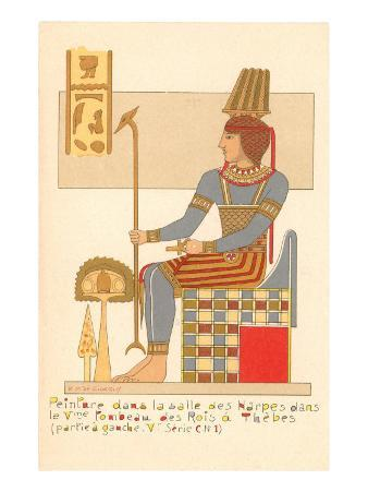 Rendering of Frieze from Theban King Tomb, Egypt