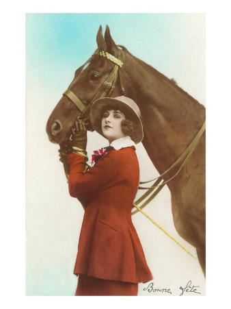 Bonne Fete, Girl with Horse
