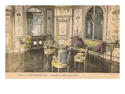 Marie Antoinette Bedroom, Fontainbleau, France