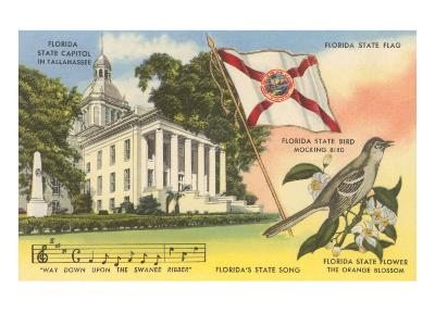 State Capitol, Mocking Bird, Flag, Florida