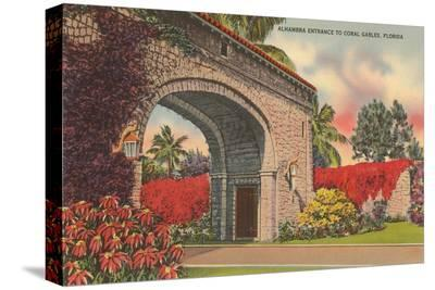 Alhambra Entrance, Coral Gables, Florida
