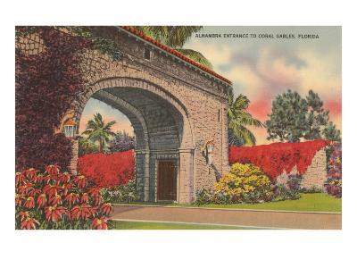 Alhambra Entrance, Coral Gables, Florida