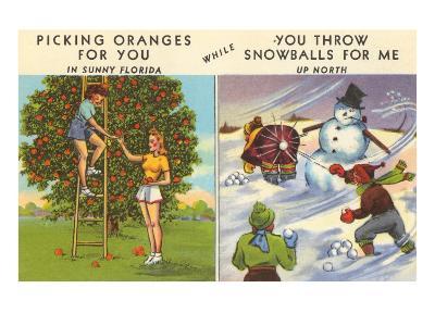 Oranges Versus Snowballs