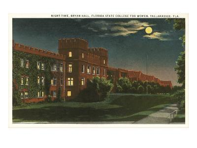Moon over Florida State, Tallahassee, Florida