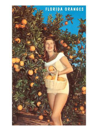 Lady with Oranges, Florida