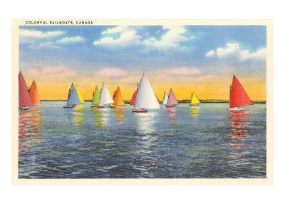Colorful Sailboats, Canada
