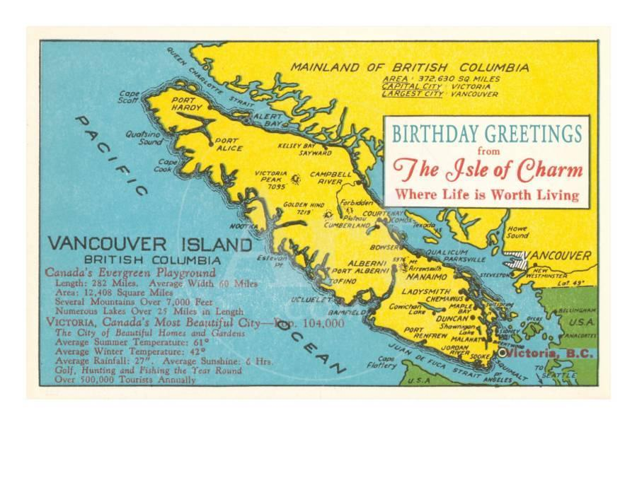 Map Of Vancouver Island Canada Print At Allposters Com