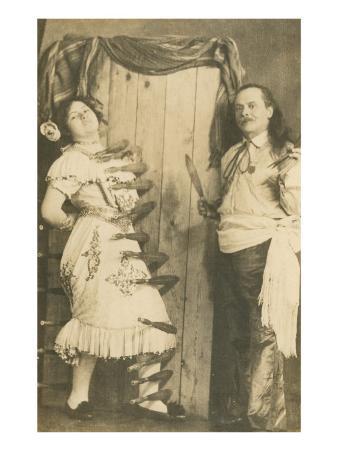 Circus Knife-Throwing Act