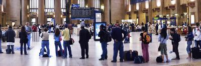 People Waiting in a Railroad Station, 30th Street Station, Schuylkill River, Philadelphia