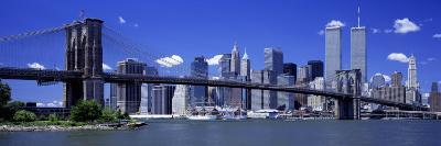 Brooklyn Bridge Skyline New York City Ny, USA