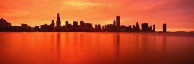 Illinois, Chicago, Sunset