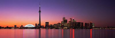 Reflection of Buildings in Water, Cn Tower, Toronto, Ontario, Canada