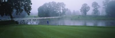 Bridge over a Lake on a Golf Course, Shawnee, Pennsylvania, USA