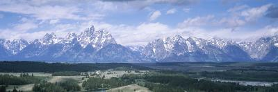 Landscape with Mountains in the Background, Jackson Hole, Grand Teton National Park, Wyoming, USA