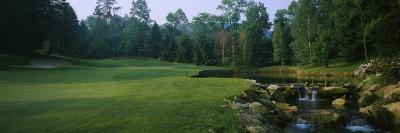Stream in a Golf Course, Laurel Valley Golf Club, Ligonier, Pennsylvania, USA