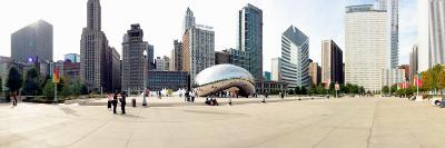 Buildings in a City, Millennium Park, Chicago, Illinois, USA