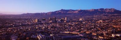 Aerial View of El Paso, Texas, Usa-Mexico Border