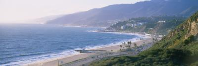 High Angle View of the Beach, Malibu, Pacific Palisades, Santa Monica Bay, California, USA