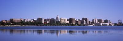 Buildings at the Waterfront, Lake Monona, Madison, Dane County, Wisconsin, USA