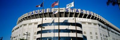 Flags in Front of a Stadium, Yankee Stadium, New York City, New York, USA