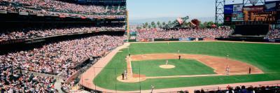 High Angle View of a Stadium, Pac Bell Stadium, San Francisco, California, USA