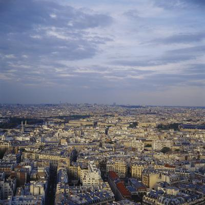 High Angle View of Cityscape, View from Eiffel Tower, Paris, France