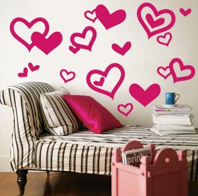 Bright Pink Hearts