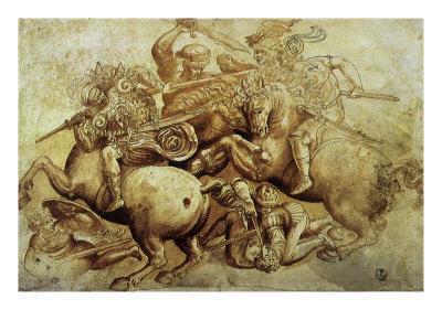 The Battle of Anghiari, 1500