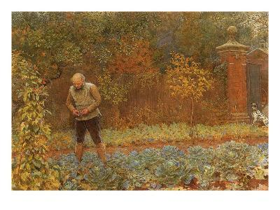 Gardener and Cabbages, 1870
