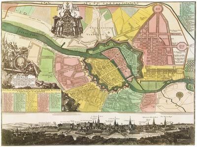 Map of Berlin City. 1740