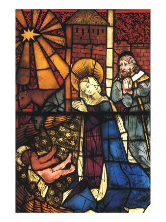 Stained Glass Nativity, 1443